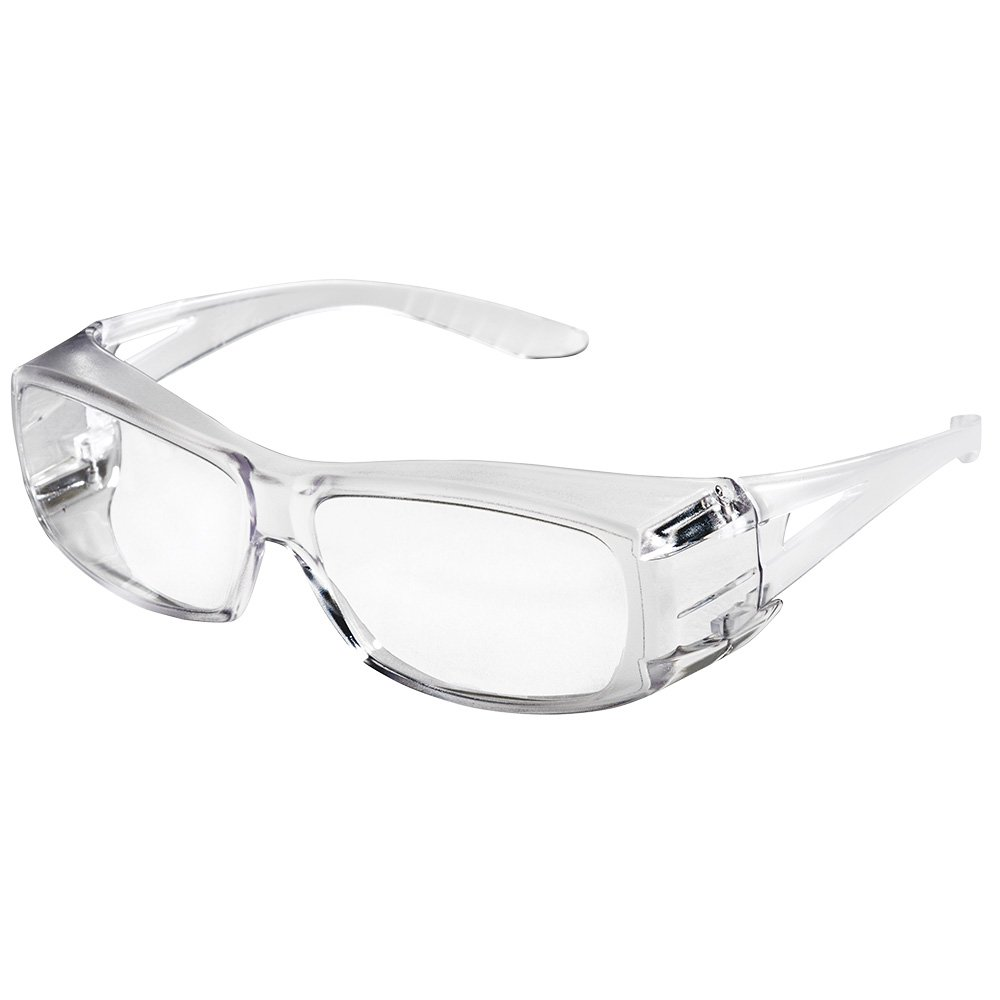 Sellstrom S79100 X350 Clear Safety Glasses, Protective Eye Wear - Over-The-Glass (OTG) (Pack of 12)