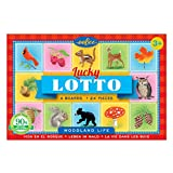 eeBoo Woodland Life Lucky Travel Lotto Bingo, Road Trip Travel Game for kids