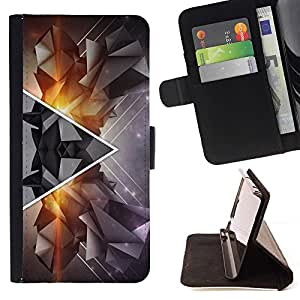 DEVIL CASE - FOR LG G2 D800 - Polygon Triangle Abstract Hipster Art - Style PU Leather Case Wallet Flip Stand Flap Closure Cover