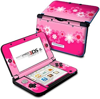 product image for Retro Pink Flowers - DecalGirl Sticker Wrap Skin Compatible with Nintendo Original 3DS XL