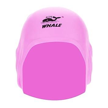 Silicone 3D Orecchio di Nuoto Balneazione Cappello da Nuoto Impermeabile Red Alomejor Adulto Costumi da Bagno Tappo