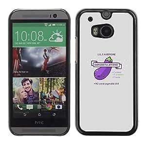 Caucho caso de Shell duro de la cubierta de accesorios de protección BY RAYDREAMMM - HTC One M8 - Berenjena divertido Lol