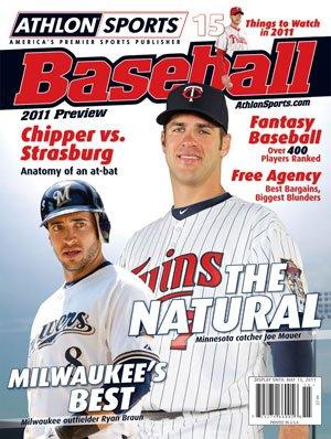 Athlon Sports 2011 MLB Baseball Preview Magazine- Minnesota Twins Cover ()