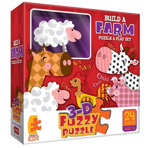Build A Farm Fuzzy  Jigsaw Puzzle (Fuzzy Puzzle Ceaco)