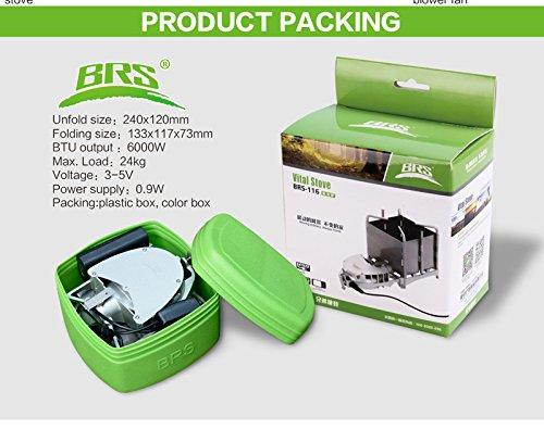 BRS Hornillo de acampada Hornillo portatiles Quemador de picnic portatil Estufa de lena compacto plegable: Amazon.es: Deportes y aire libre