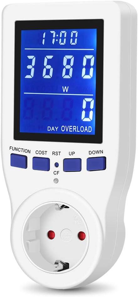 Energiekosten-Messgerät bis 3680W 16A Strommesser Energiemessgerät Stromzähler