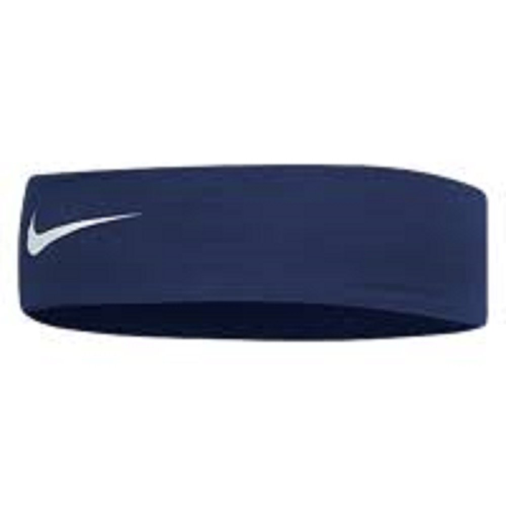 Nike Fury Headband (Midnight Navy/White, One Size Fits Most) by Nike (Image #1)