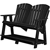 Wildridge Recycled Plastic Heritage Double High Adirondack Bench - Ships in 10-14 Business Days