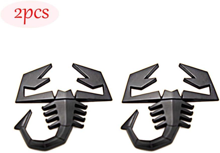Black CARRUN 2 PCS 3D Scorpion Emblem Badge Car Side//Rear//Front Decorations Metal Sticker Decals Logo