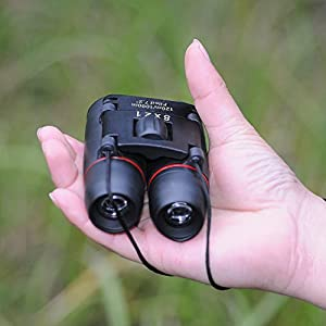 Cymas Mini Binoculars 8x21 Folding Pocket Binoculars Compact with Case, Wide Angle for Opera Whale Bird Watching