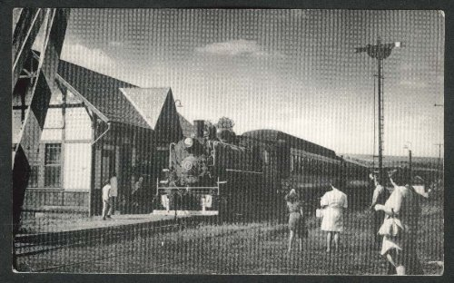 (WK&S Steam Railroad Engine #2 Kempton Station PA postcard 1950s)