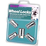 McGard 74041 Chrome Cone Seat Trailer Wheel Locks, 1/2-Inch- 20 Thread Size, Set of 4