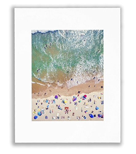 - Aerial Beach Wall Art, California Sea, Sand & Waves Captured In Gorgeous Venice Beach Picture, HD Unframed Wall Décor, Matted Print 8X10 (Fits 11X14 Frame)