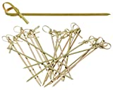 Prexware 6 Inch Bamboo Knot Skewers, Twisted Ends Bamboo Picks Cocktail Picks 200 Ct.