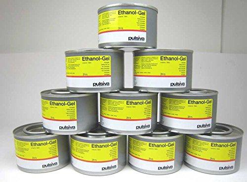 10 Dosen 230ml Brennpaste für Chafing Dish geruchsneutral Ethanol