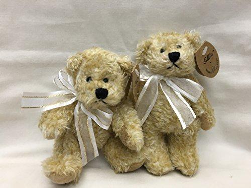 Teddy Bear Plush Small Toy Miniature 5.5 Inch Tall, 2 Pcs/set