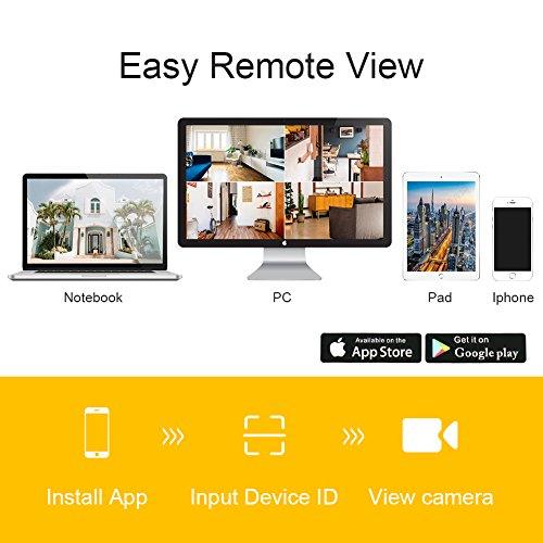 Rraycom 4CH 1080P HD NVR Wireless Security Camera System,4PC 2 0MP