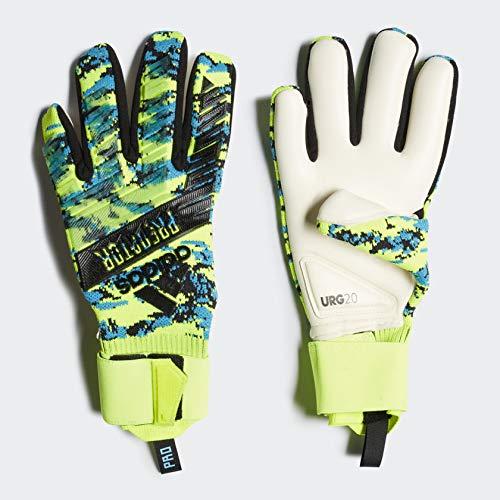 adidas Predator Pro Manuel Neuer Goalkeeper Gloves, Size 9 (Solar Yellow/Bright Cyan/Black) (Predator Keeper Gloves)
