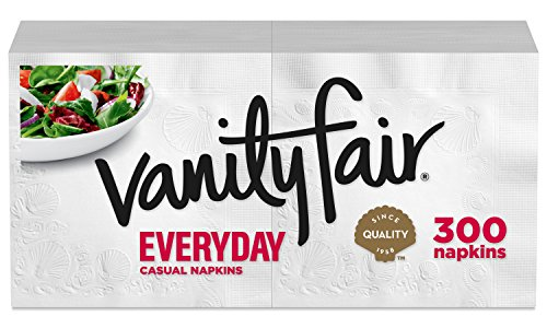 Vanity Fair Everyday Napkins, 300 Count Paper Napkins
