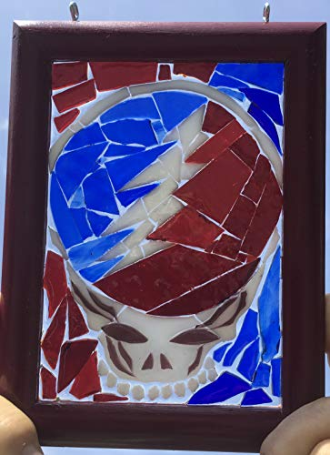 Stealie Stained Glass Grateful Dead Window Art Sun Catcher, Steelie by Mountain Mosaics (Image #1)