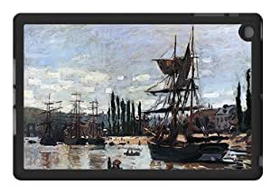 Boats at Rouen (Monet) - Case for iPad Mini