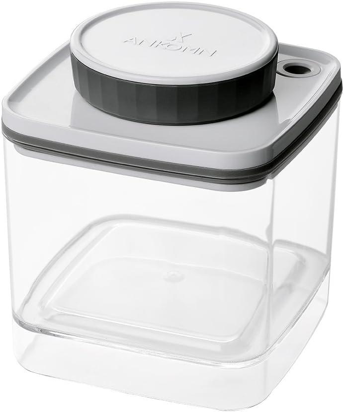 Ankomn Turn-N-Seal vacuum/airtight moisture prevent storage container perfect for Coffee Teas Rice Nuts Medicine (0.6quart)