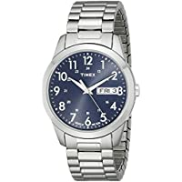 Men's T2M933 Elevated Classics Silver-Tone Dress Watch with Stainless Steel Expansion Band