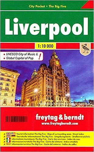 Liverpool (England) 1:10, 000 Pocket Street Map, laminated FREYTAG ...