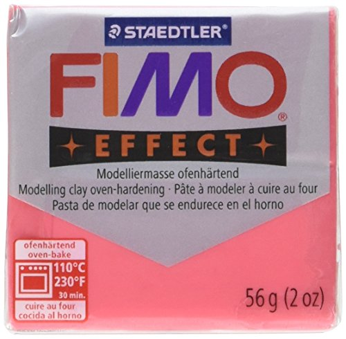 Staedtler Fimo Soft Polymer Clay 2 Ounces-8020-204 Transparent Red ()