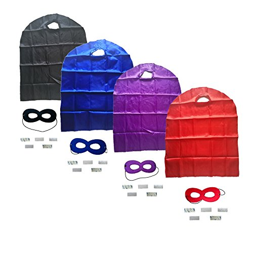 Ranavy Superhero Capes And Masks Bulk Set Dress Up for Kids - Children DIY Birthday Party Costumes (4 PCS(27