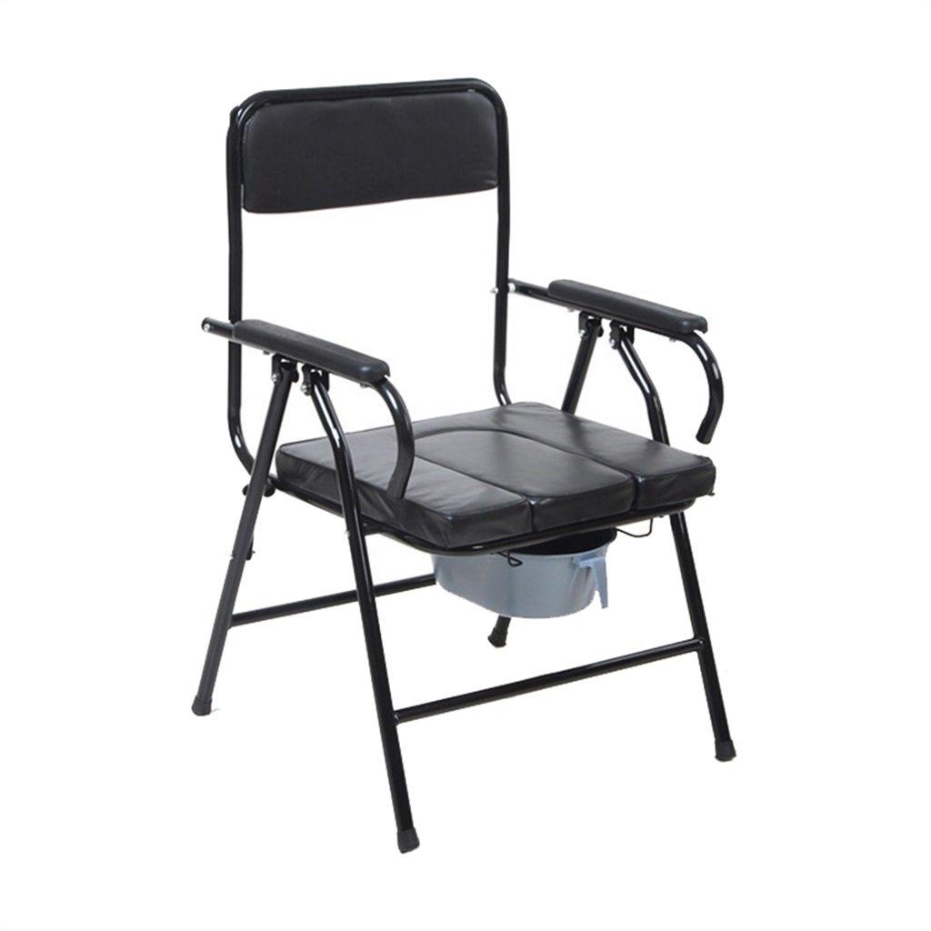 折りたたみ可能な高齢者人用トイレシート椅子椅子妊婦入浴用便リムーバブルトイレ障害者スチールチューブトイレチェア最大175kg B07DJ43FMB