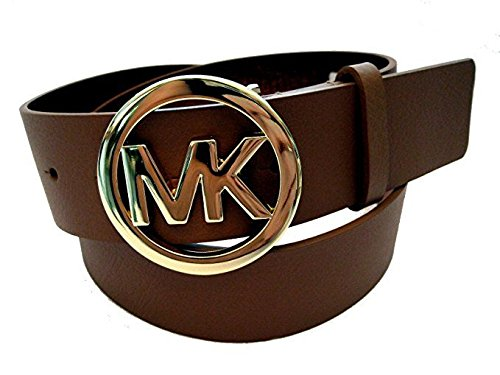 Michael Kors Chocolate Belt with Gold Buckle Size: L