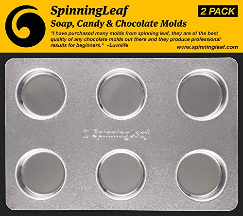 SpinningLeaf Plain Oreo Cookie Chocolate Candy Molds (2 Pack)