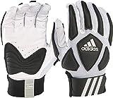 adidas Scorch Destroy 2 Lineman Gloves Full Finger, White/Black, X-Large