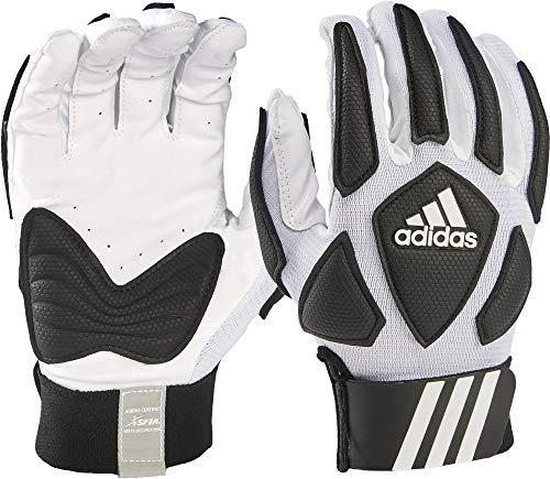 adidas Scorch Destroy 2 Lineman Gloves Full Finger, White/Black, Large ()