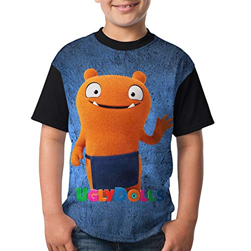 Uglydolls Shirt Youth Shirt Cusual Unisex Short Sleeved T-Shirt Front Print with HD 3D (S) Black