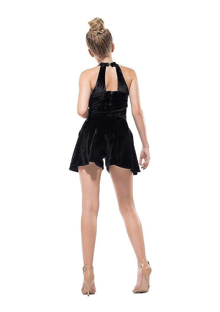 d5b3f72f4513 Amazon.com  Miss Behave Safira Black Romper (8)  Clothing