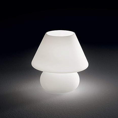 Abat Jour Lampada Moderna Da Comodino Lumetto Per Camera Da Letto Vetro Bianco Amazon It Illuminazione