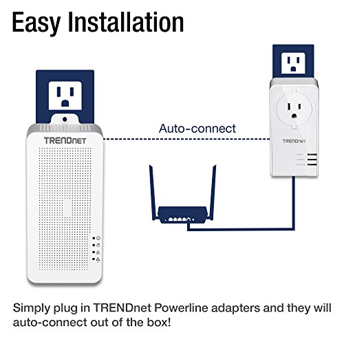 TRENDnet Powerline 200 AV PoE+ Adapter Kit, Output Port Supports PoE, 15.4W, 30W Devices, Includes Two TPL-331EP Adapters, Twin Pack, TPL-331EP2K by TRENDnet (Image #2)