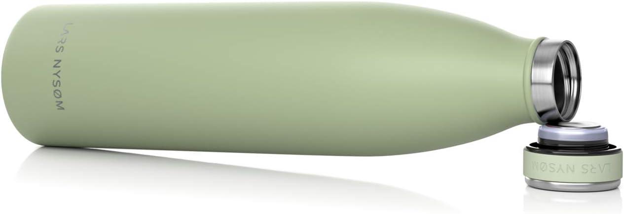 Perro Lars NYS/ØM Botella de Acero Inoxidable de 1 litro Botella aislada 1000ml sin BPA beb/é ni/ños Bicicleta Botella de Agua a Prueba de Fugas para Deportes