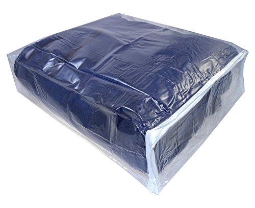 AK Plastics Clear Vinyl Zippered Storage Bags Set of 5, 15 x 18 x 6 inches, by AntiqueKitchen