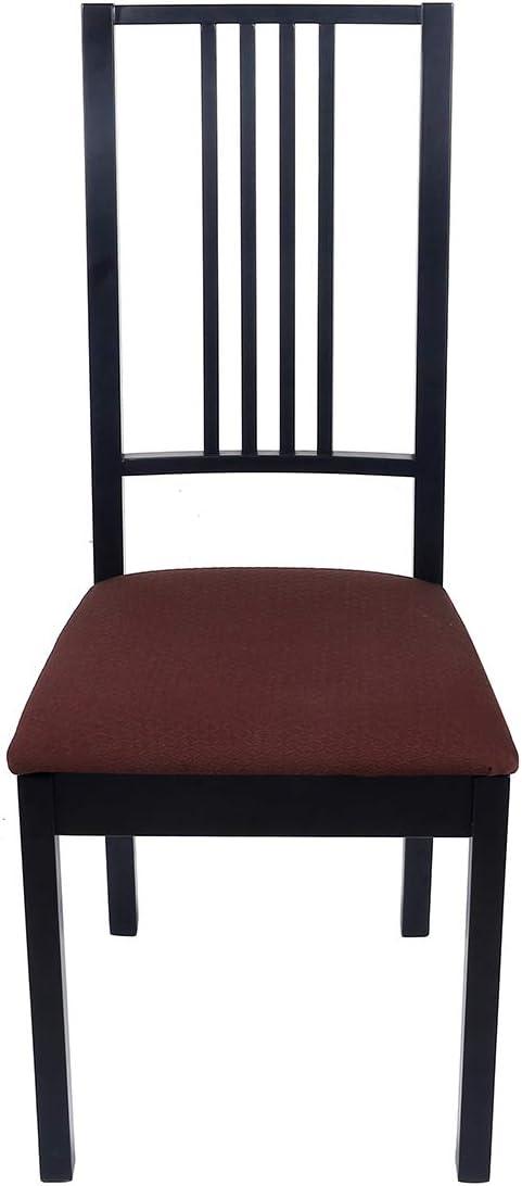 /élasthanne. Homaxy Housse de chaise de salle /à manger en /élasthanne Jacquard extensible et amovible Polyester Esszimmer*2 camel