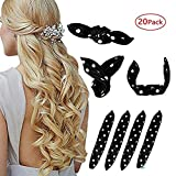 Foam Hair Curlers, Pillow Cloth Hair Rollers,No Heat Sleeping Soft Sponge Rollers for Long, Short, Thick & Thin Hair Spiral Curls Hair Headband (black)