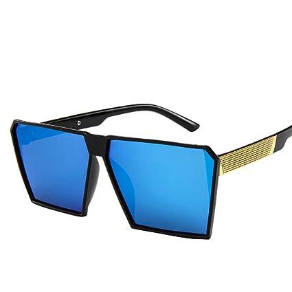 Btruely Herren_Gafas de Sol para Mujer Hombres Vintage Square Marco de Metal Espejo Gafas de Sol Unisex Aire Libre