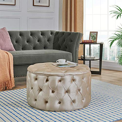 Duhome Ottoman Stool,Modern Small Ottoman Seat Foot Bench for Living Room
