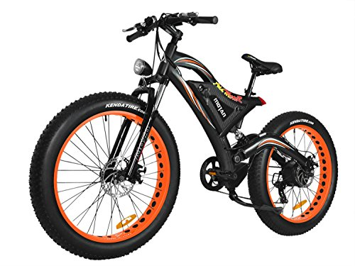 Addmotor MOTAN Electric Bicycle 750W 48V 11.6AH Battery For Snow Beach Mountain All Terrain Fat Tire Electric Bike With Full Suspension 2018 M-850 P7 E-bikes+Fenders As Gift