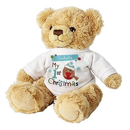 Ours en peluche personnalisable Mon 1er Noël 1er Noël de bébé Cadeau de premier Noël Cadeaux