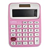 Clara Home Office School Use Calculator Portable Calculator Large LCD Display Calculator(Pink)