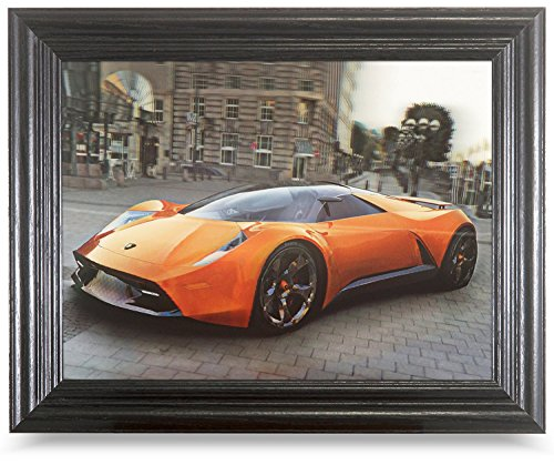 Price comparison product image Lenticular Framed Pictures and Posters Bundles. Changing Pictures and 3D Art. (Cars,  Framed)