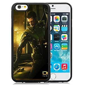 6 TPU case,Deus Ex Human Revolution Adam Jensen Pistol Alhocol Window iPhone 6 TPU cover